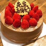 先生にケーキを作りました!!