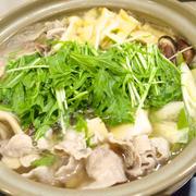 【お鍋】「水菜使い切り♪豚肉と大根のはりはり鍋」で晩ごはん。
