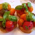 簡単、可愛い、美味しいミニトマトのブルスケッタ