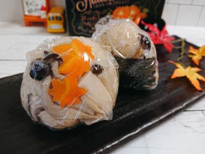 鶏ときのこの炊き込みごはんおにぎり弁当〖おにぎりだけのお弁当〗