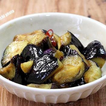 茄子だけで旨い「茄子の南蛮炒め」&「キムチの素で簡単オイキムチ」