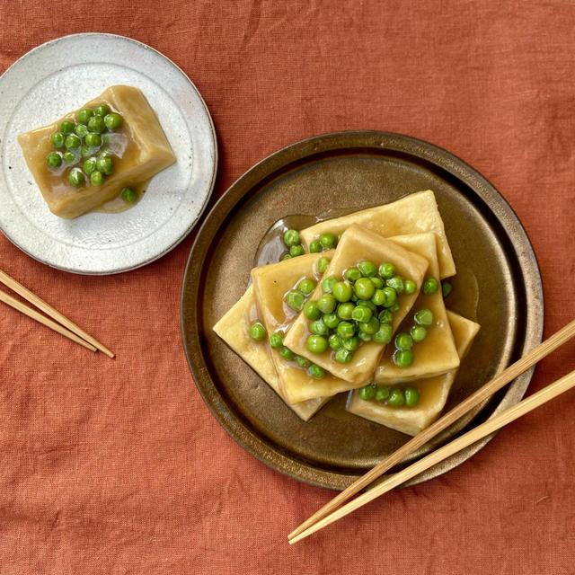 Veganレシピ。料亭の味、こうや豆腐の揚げ煮の作り方