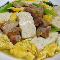 鶏もも肉と炒り卵の親子煮<豆腐も一緒に>