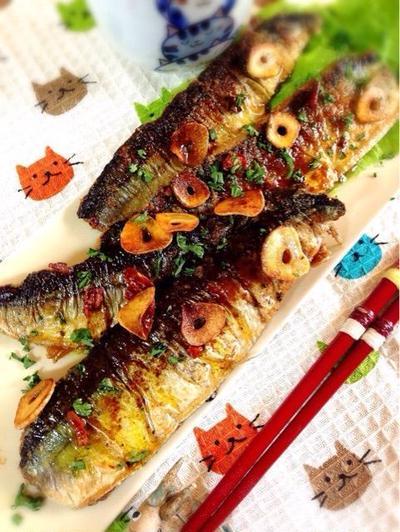 秋刀魚のアーリオオーリオ
