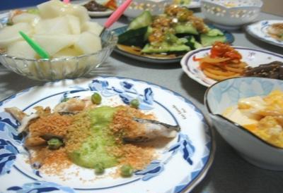 白身魚のムニエルグリンピースソース
