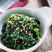 ほうれん草の海苔ナムル【#作り置き #お弁当 #やみつき #にんにく不使用 #副菜】