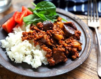 ♡煮込み3分♡ひき肉となすのキーマカレー♡【#簡単#時短#節約】