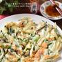【レシピ・主食・動画】旬野菜たっぷり!新じゃがと新玉ねぎのチーズチヂミ