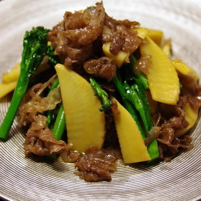 牛肉とタケノコの甘辛炒め