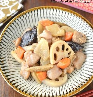息子が作ってきたこんにゃくを使って、鍋いっぱいに「中華風筑前煮」を作りました!(←息子の大好物です)