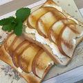 クリームチーズとリンゴでアレンジトースト~美味しい!!