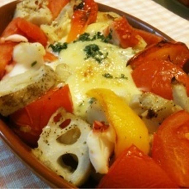 モニター 鱈とトマトのオーブン焼き♪