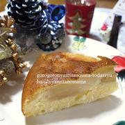 <スイッチ・ポンでできちゃいます(^◇^)ル・レクチェとアップルの簡単ケーキ(ホットケーキミックスと炊飯器で)>