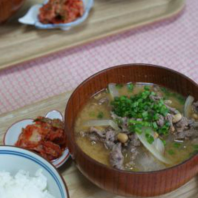 「納豆と牛肉の韓国風お味噌汁」「チャイ風プリン」&お知らせ