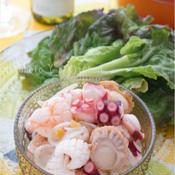 柚子胡椒香るシーフードの和風マリネ