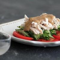 バンバンジーの鶏肉とソースは何かと便利に使えます