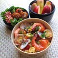 【レシピ】12.3 炊飯器で炊く 簡単♪パエリアのお弁当 by YUKAさん