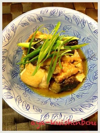 鶏と茄子のこっくり煮