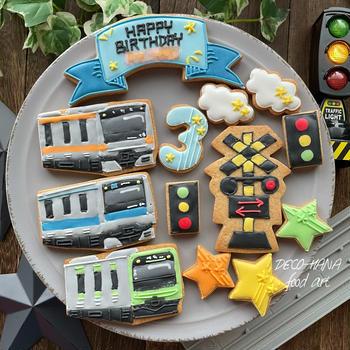 電車のアイシングクッキー