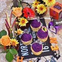 紫芋モンブラン風カップケーキ