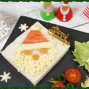 【クリスマスなのでサンタトースト(≧▽≦)】