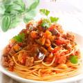 ごろごろお肉と茄子のミートソース・スパゲティ by mariaさん