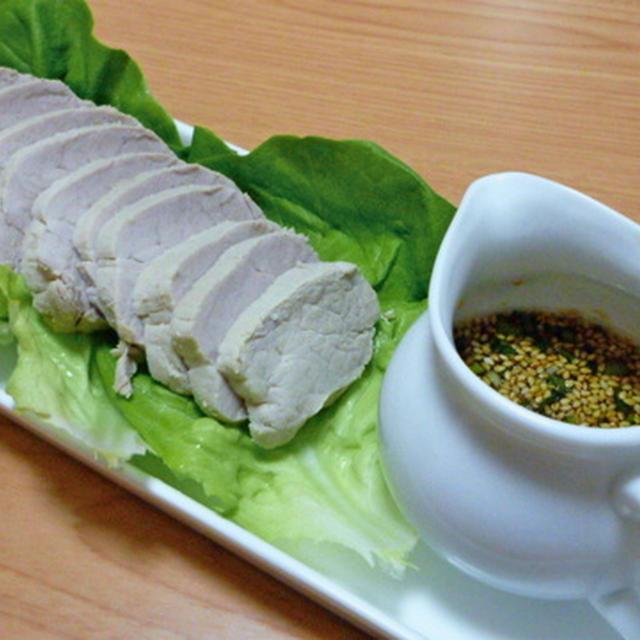 茹で豚の生姜ソース