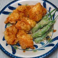 カレーパウダーでチャチャッと鶏胸肉天ぷら