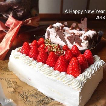 新年は誕生日ケーキ