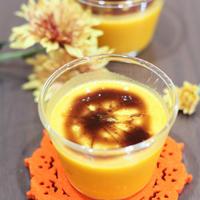 お花と楽しむハロウィン かぼちゃのプリン