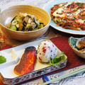【THE.朝ご飯♪】鰆味醂焼き/カリカリ梅のおにぎり/お好み焼き他です。