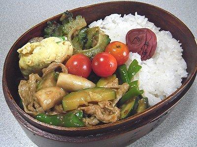 夏野菜のカレー炒め煮弁当