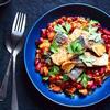 鯖のガラムマサラソテーの豆とトマトの食べるソース