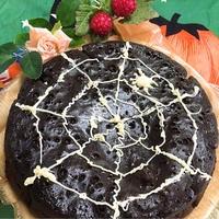 ハロウィンに…♬蜘蛛の巣のデビルズケーキ☆ガトーショコラ