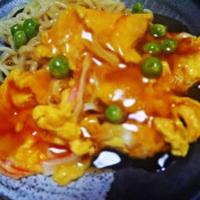 マルちゃんまろやか仕立ての太打ち冷し中華DE天津麺