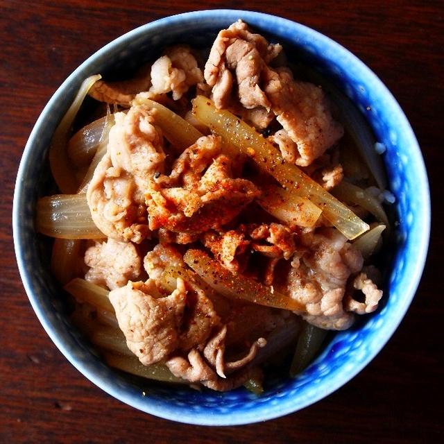 松屋の「豚めし」的な豚丼。
