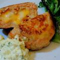 コルビージャックチーズが入った☆チーズinサーモンハンバーグ♪