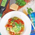 「アボカドとトマトの冷製パスタ」のレシピ