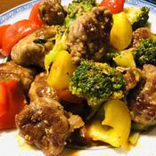 ブロッコリーと肉団子のケチャップ炒め