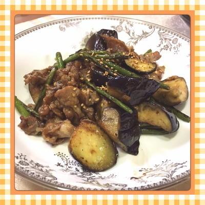 茄子・ニンニクの芽・豚肉のオイスターソース炒め(レシピ付)