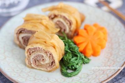 牛肉の信太巻のレシピ|楊枝で止めてもOK、彩りUPは春菊とにんじんなどで