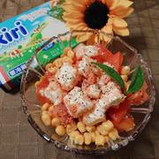 キリ明太とトマトのサラダ