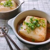 あごだししょうゆで!フライパンで簡単♡揚げだし豆腐