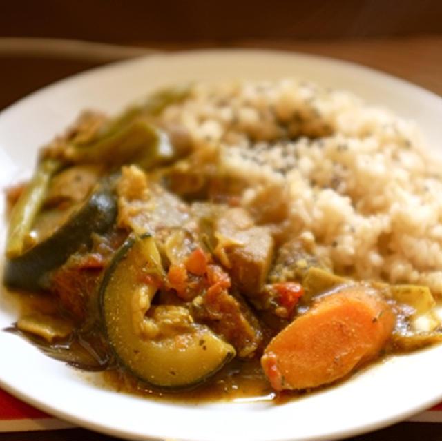 野菜だけ、干し野菜のカレー。