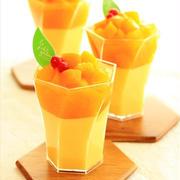 アジアンスイーツヽ(^◇^*)/  マンゴー風味のつるるん杏仁豆腐