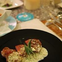 ◆ワインにぴったりな豚ヒレ肉のサルティンボッカ ブリーソース