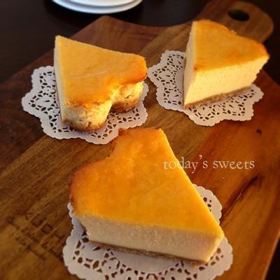 ハートのベイクドチーズケーキ♡どんどん混ぜるだけ♪
