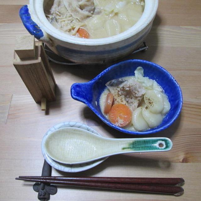 豆乳味噌のすいとん一人鍋