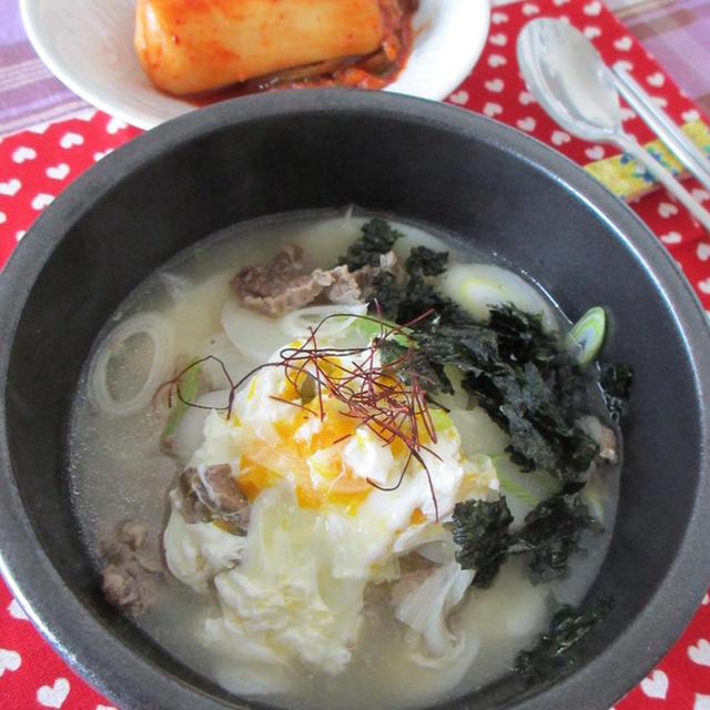 お餅で韓国風お雑煮。