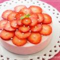 極上の「ストロベリーレアチーズケーキ」 by PICOさん